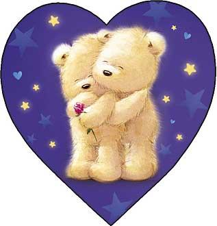Открытка медведь для тебя